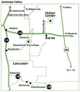 U.S. Borax Visitor Center Map