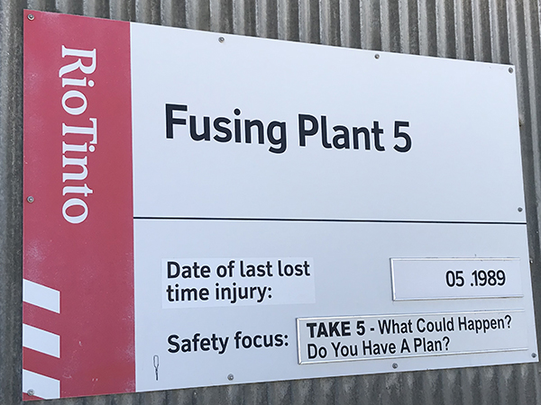 Fusing Plant 5 safety date